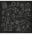 Set of hand drawn business and finance elements vector image vector image