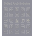 Set of United Arab Emirates simple icons vector image