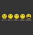 smile faces pack from happy to unhappy different vector image