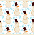 snowman christmas season winter white man vector image vector image