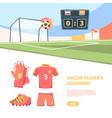 soccer match banner international football vector image
