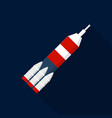 space rocket icon flat style vector image