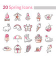spring season icons in format vector image