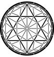 stencil of magic hexagram vector image