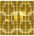 striped glowing gold meanders greek seamless vector image vector image