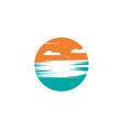 sun ilustration logo icon vector image