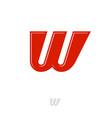 w monogram red web network digital business vector image vector image