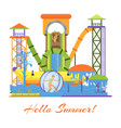 water park and swimming attraction for kids vector image vector image