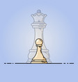 white pawn becomes queen vector image vector image