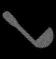 white pixel scoop icon vector image vector image