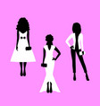 woman model silhouettes set vector image vector image