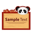 Wood board with panda for your design vector image vector image