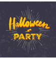 Halloween party invitation card grunge halloween vector image