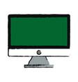 green screen monitor computer device vector image