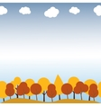 Landscape with autumn trees Seamless pattern vector image