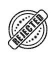 Rejected damaged stamp vector image