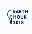 earth hour logo vector image