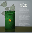 a barrel of toxic radioactive waste container vector image vector image