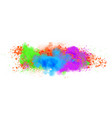 abstract background with color paint splashes vector image
