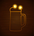 abstract beer glass vector image vector image