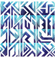 abstract blue geometric seamless vector image vector image