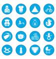 baby icon blue vector image