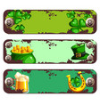 banners with rust and screws for st patrick s day vector image
