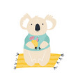 beach koala summer animal concept vector image