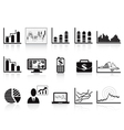 Black business charts icon vector | Price: 1 Credit (USD $1)