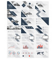 blue elements for infographics vector image