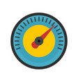 blue yellow dashboard icon flat style vector image vector image