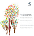Business background with abstract trees and layout vector image vector image