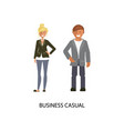 business casual style vector image vector image