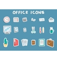 Business Office Sticker Icons Set vector image vector image