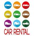 car rental sign vector image vector image