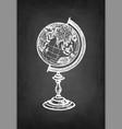 chalk sketch globe vector image
