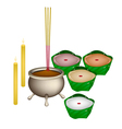 Chinese Pudding or Nian for New Year Worship vector image vector image