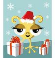 Christmas Funny Santa Character vector image