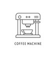 coffee machine outline icon vector image vector image