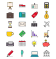 Color business icons set vector image vector image