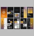 creative social networks stories design vertical vector image vector image