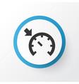 cruise control on icon symbol premium quality vector image vector image