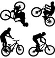 cyclist vector image