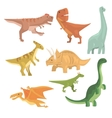 Dinosaurs Of Jurassic Period Collection Of vector image