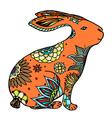 doodle rabbit vector image