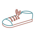 elegant male shoes isolated icon vector image