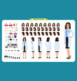 female doctor character creation setfront side vector image vector image