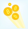 flat golden bitcoin btc cryptocurrency vector image vector image