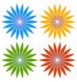 flower clip arts in for color flower shapes vector image