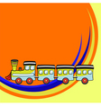 funny train vector image vector image